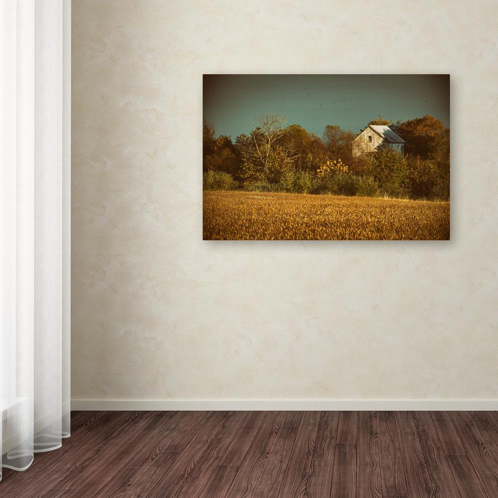 "12 in. x 19 in. ""Abandoned Barn In The Trees"" by"