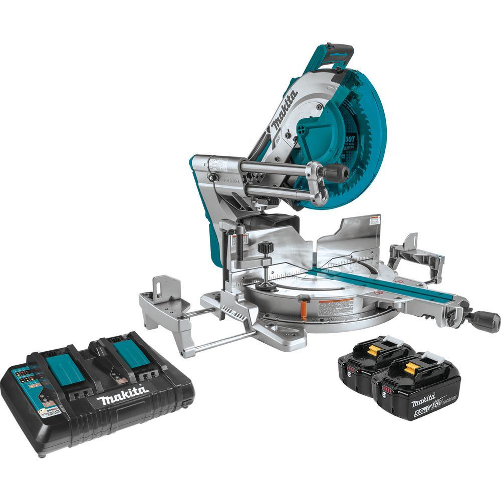 18-Volt X2 LXT Lithium-Ion (36-Volt) 12 in. Brushless Cordless Dual-Bevel Sliding Compound Miter Saw Laser Kit (5.0 Ah)