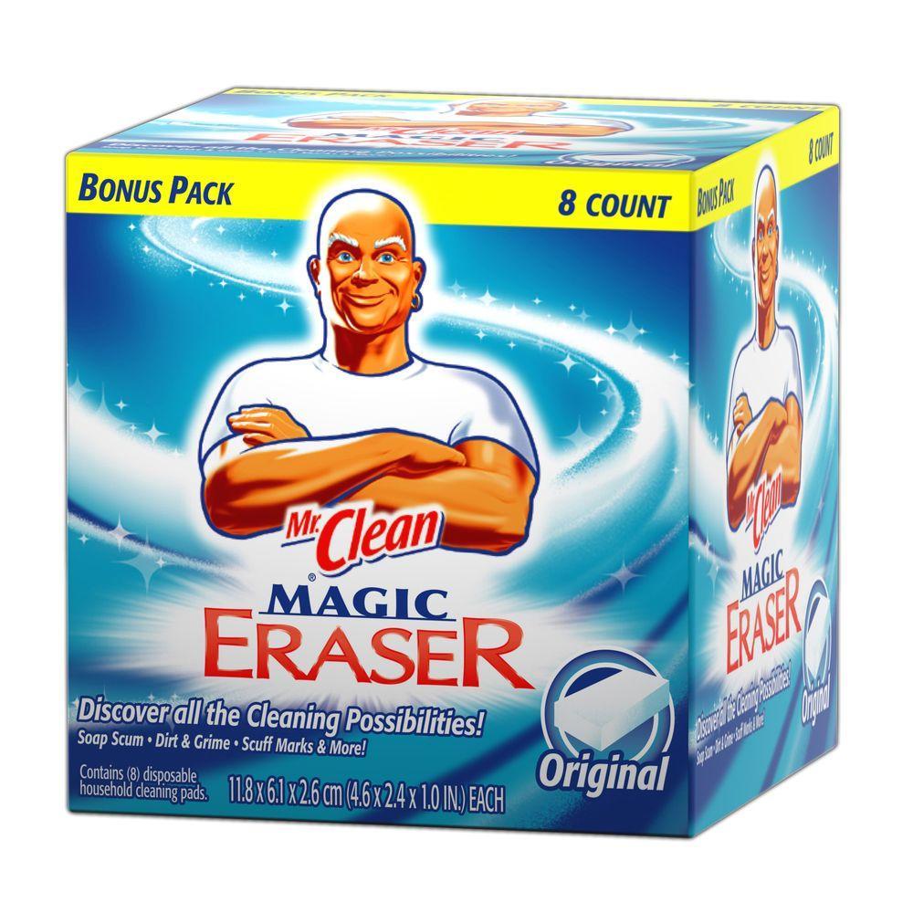 mr clean original magic erasers 8 count 003700045084 the home depot. Black Bedroom Furniture Sets. Home Design Ideas