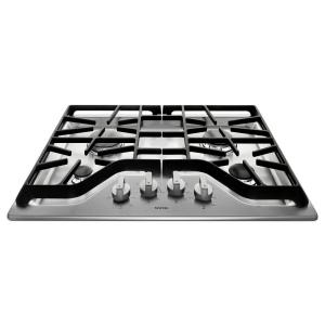 gas cooktop in stainless steel with 4 burners including 15000btu power