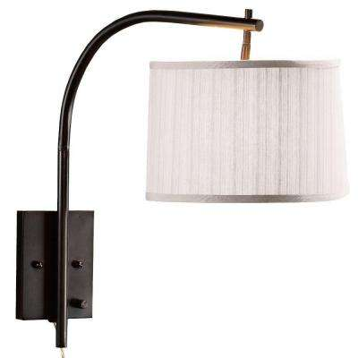 Arch 1-Light Oil-Rubbed Bronze Wall Medium Swing-Arm Pin-up Lamp