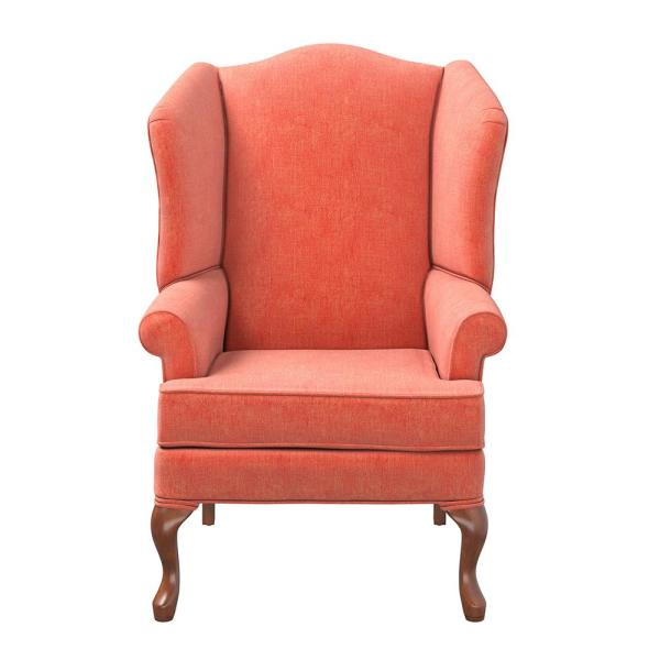 Crawford Coral Wing Back Chair