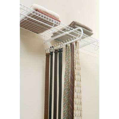 30 Hook Tie/Belt Organizer Rack In White