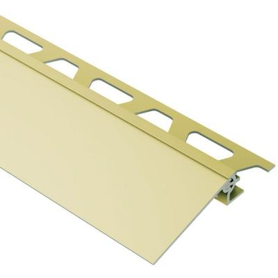 Reno-V Satin Brass Anodized Aluminum 5/16 in. x 8 ft. 2-1/2 in. Metal Reducer Tile Edging Trim