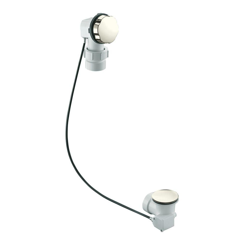 KOHLER Clearflo Bath and Shower Drain in Vibrant Polished Nickel