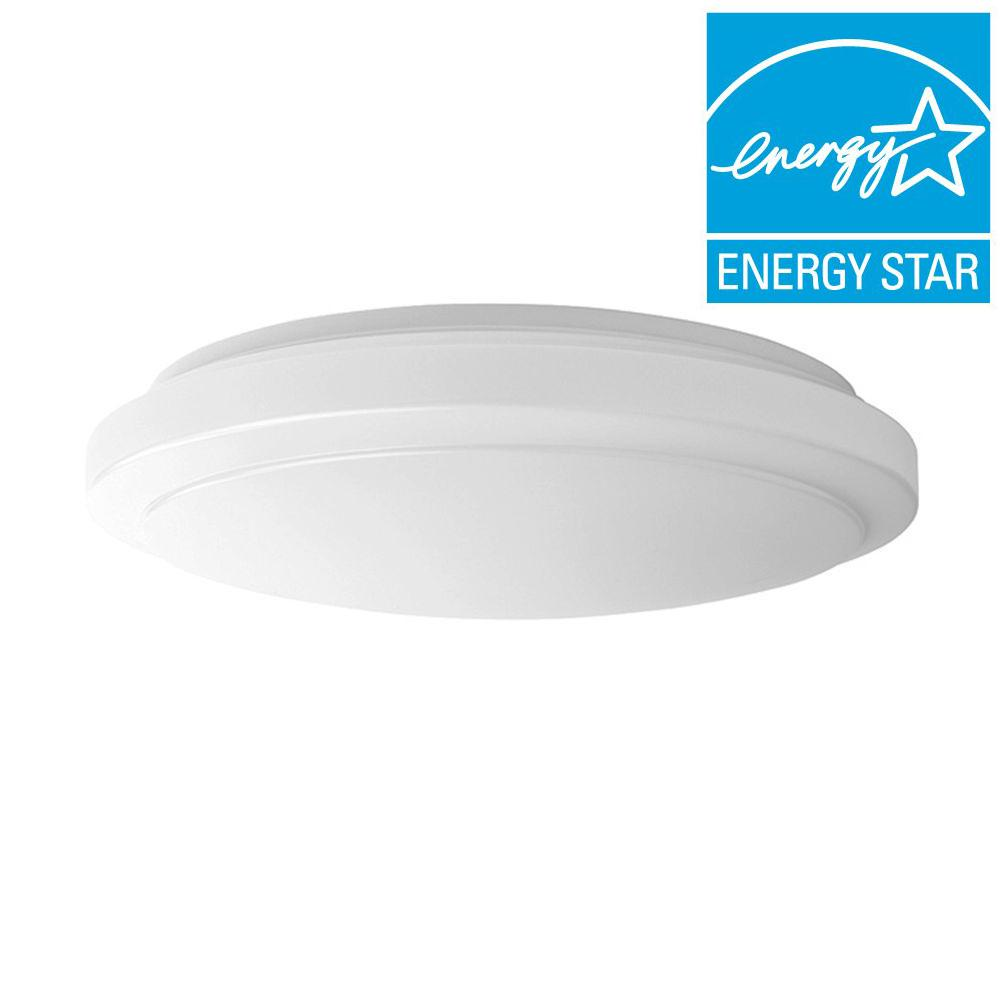 Hampton Bay 16 in. Bright/Cool White Round LED Flushmount Ceiling Light Fixture Dimmable
