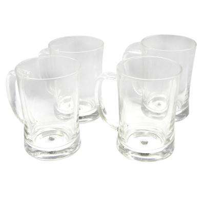 Olde 23 oz. Glass Beer Mugs (4-Pack)