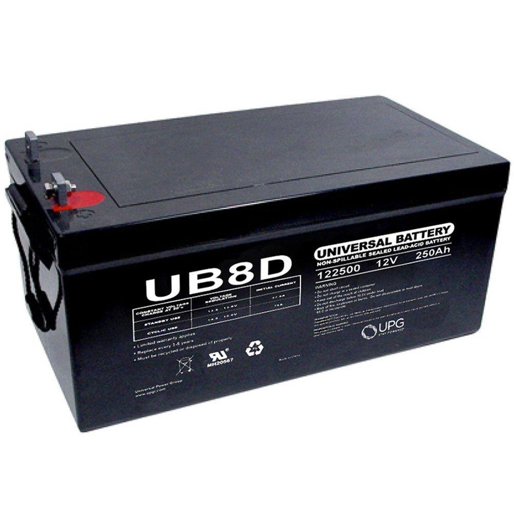 SLA 12-Volt 250 Ah Capacity L4 Terminal Battery