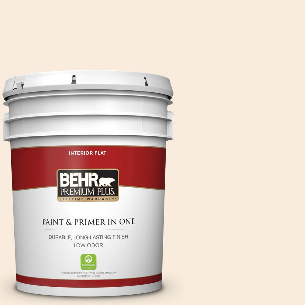 Behr Premium Plus 5 Gal 70 Linen White Flat Low Odor Interior