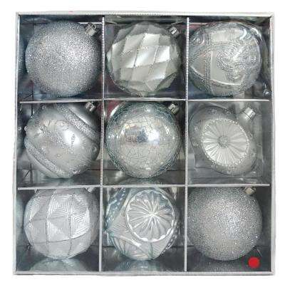 130 mm Sliver Ornament Set (9-Count)