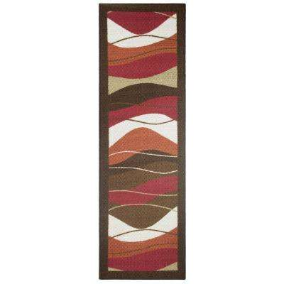 Waves Multi 2 ft. x 5 ft. Area Runner Rug