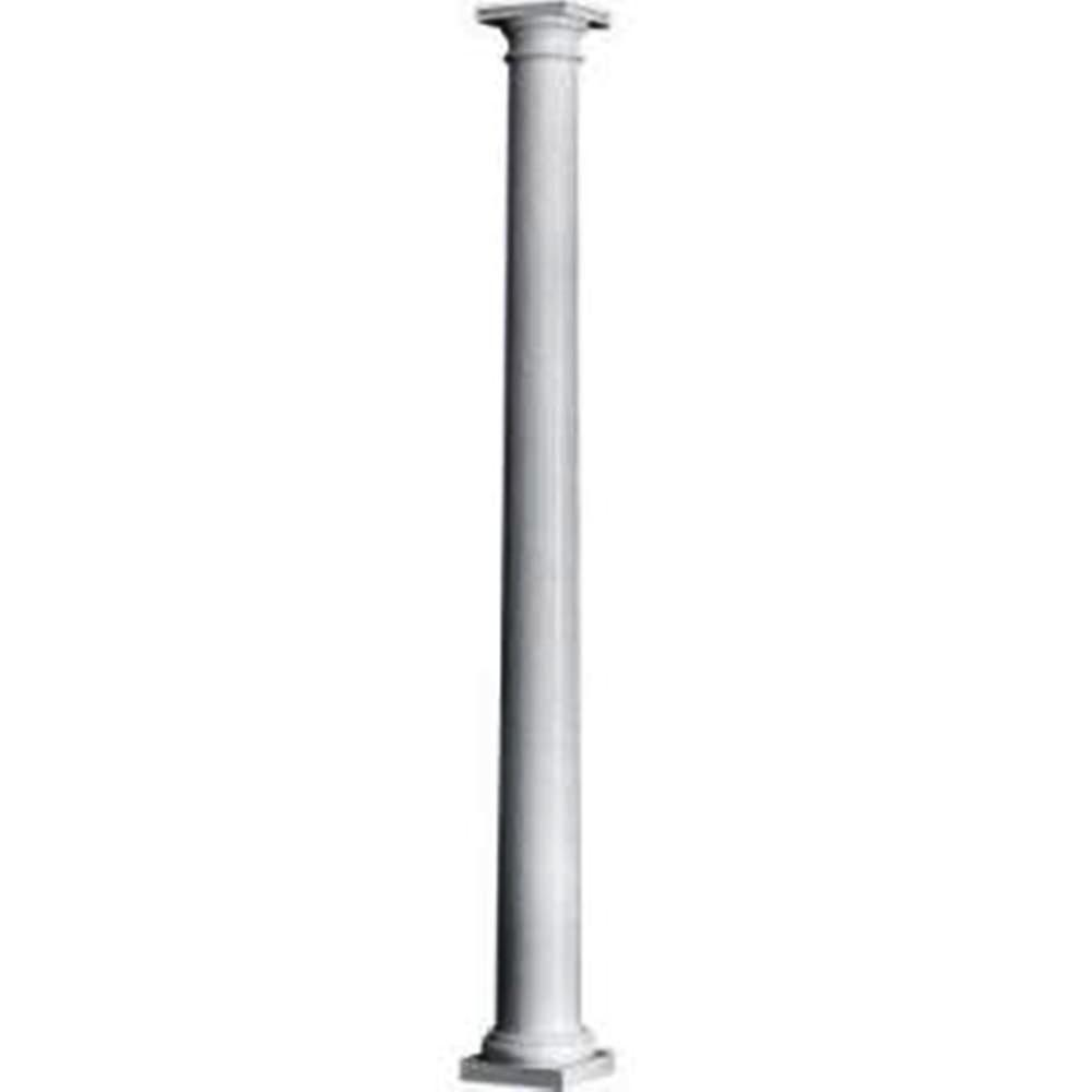 Hb g 8 in x 8 ft colonial fluted column 966207 the for Crown columns fiberglass