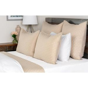 Brick Natural Solid Queen Coverlet