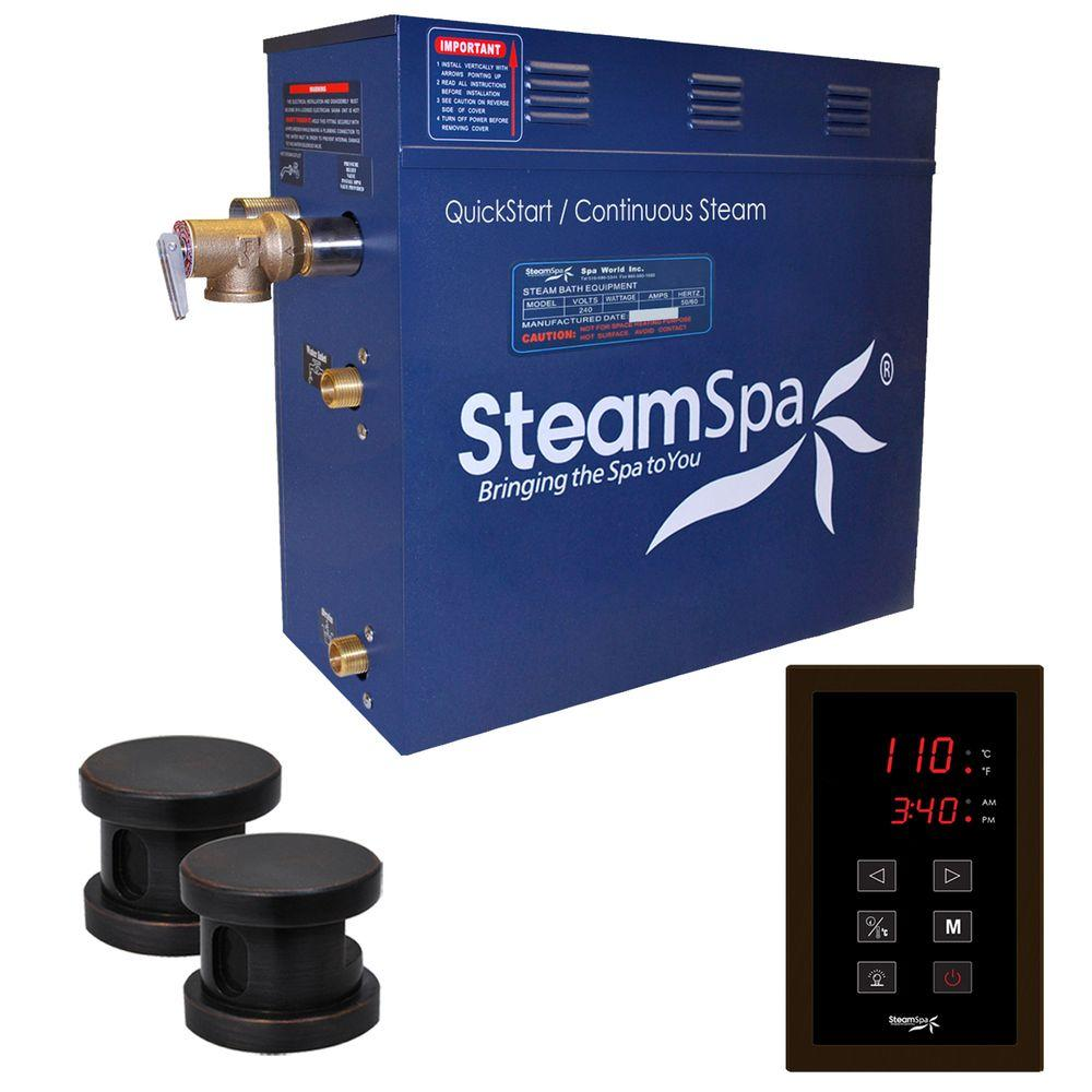 Oasis 10.5kW QuickStart Steam Bath Generator Package in Polished Oil Rubbed