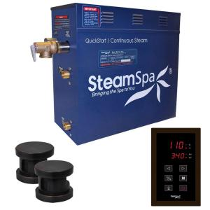 SteamSpa Oasis 12kW QuickStart Steam Bath Generator Package in Polished Oil Rubbed Bronze by SteamSpa