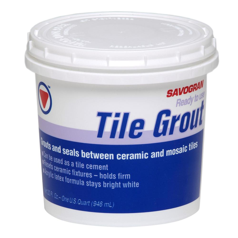 Savogran 12862 1-qt. Ready Mix Tile Grout, White