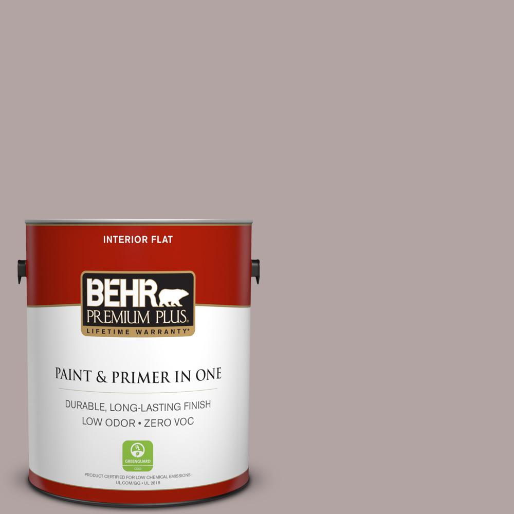 BEHR Premium Plus 1-gal. #780B-4 Slate Pebble Zero VOC Flat Interior Paint