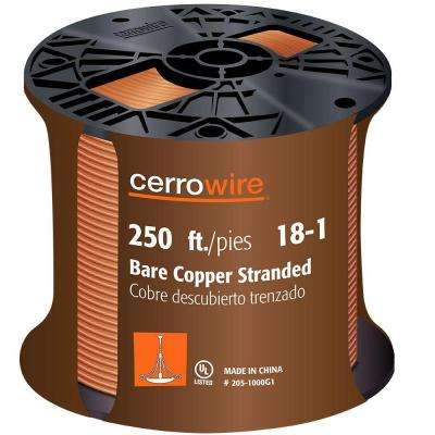 250 ft. 18/1 Stranded Bare Copper Grounding Wire