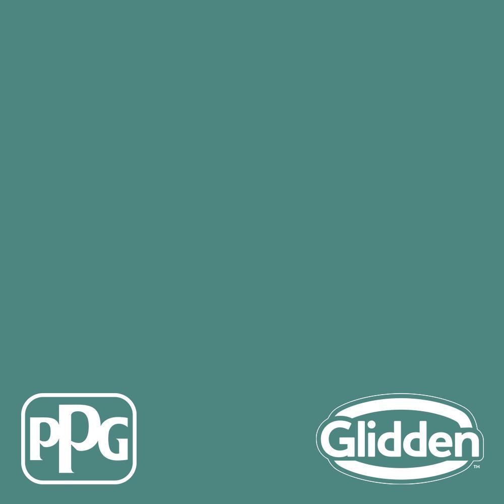 Glidden Essentials 1 gal. PPG1142-6 Jericho Jade Flat Exterior Paint