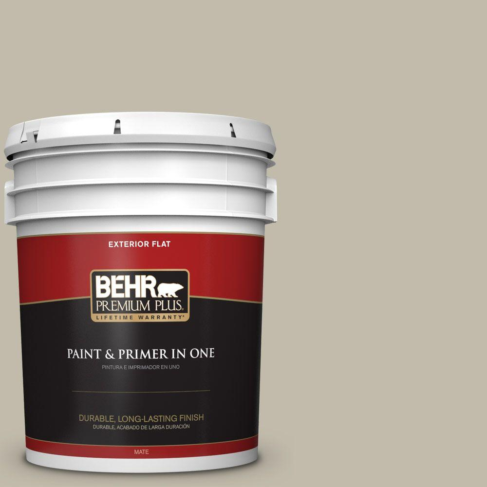 BEHR Premium Plus Home Decorators Collection 5-gal. #HDC-FL13-10 Wilderness Gray Flat Exterior Paint