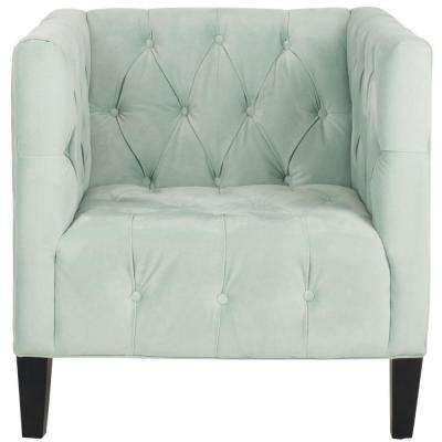 Glen Light Blue/Black Cotton Club Arm Chair