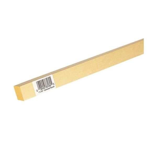 1/2 in. x 36 in. American Basswood Square Dowel