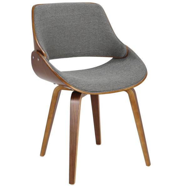 Fabrizzi Grey and Walnut Dining/Accent Chair