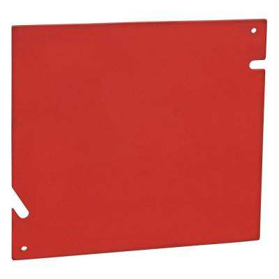 1-Gang 5-Square Blank Metal Electrical Box Cover - Red ( 20 per Case)