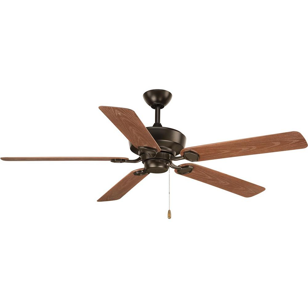 Progress Lighting Lakehurst 60 in. Indoor/Outdoor Antique Bronze Ceiling Fan