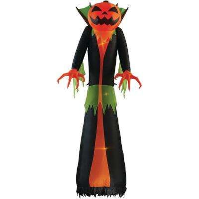 12 ft pre lit inflatable ghostflame wicked pumpkin creeper rrpm airblown