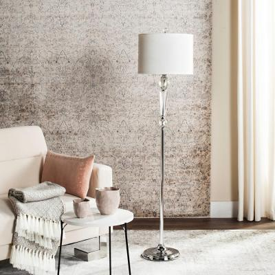 Savannah 60.25 in. Clear Floor Lamp with Off-White Shade