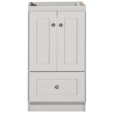 18 in. W x 21 in. D x 34.5 in. H Simplicity Bath Vanity Cabinet Only in Shaker Dewy Morning