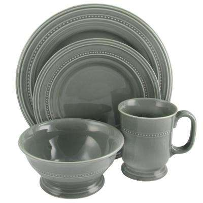 Barberware 16-Piece Gray Dinnerware Set