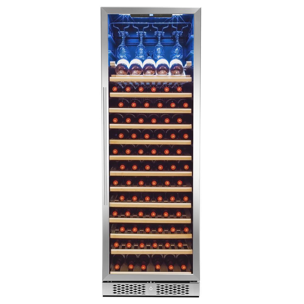 69 in. 83-Bottle Single Zone Compressor Freestanding Wine Cooler