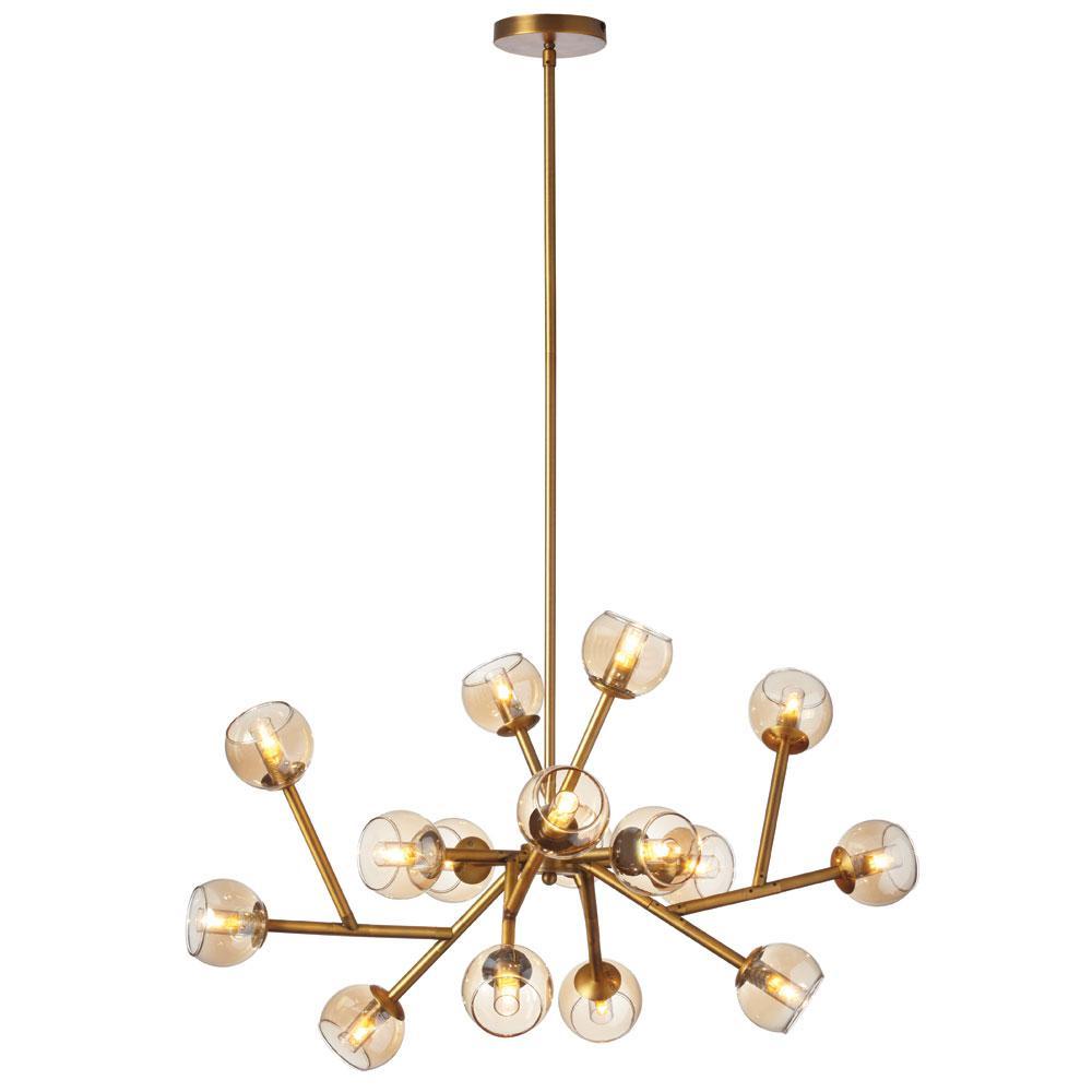16-Light Vintage Bronze Chandelier
