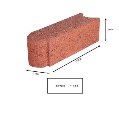 Edgestone 12 in. x 3.5 in. x 3.5 in. River Red Concrete Edger