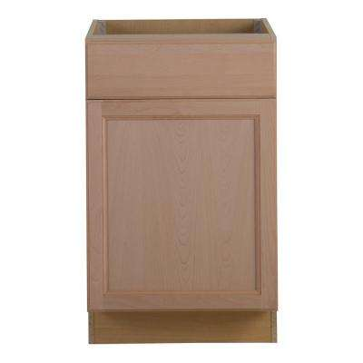 assembled 21x245x345 in easthaven base cabinet with drawer in unfinished german