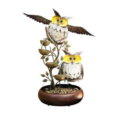 31 in. Owl Tiering Fountain