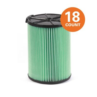 5-Layer HEPA Material Pleated Paper Filter for Most 5 Gal. and Larger RIDGID Wet/Dry Shop Vacuums (18-Pack)