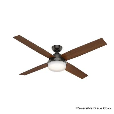Dempsey 60 in. LED Indoor Noble Bronze Ceiling Fan with Universal Handheld Remote Control and Light Kit