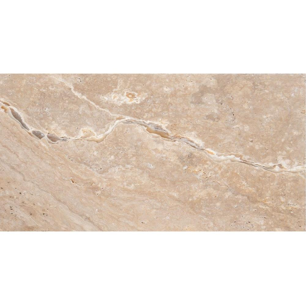 Emser Trav Chiseled Scabos 8 in. x 16 in. Travertine Floor and Wall Tile
