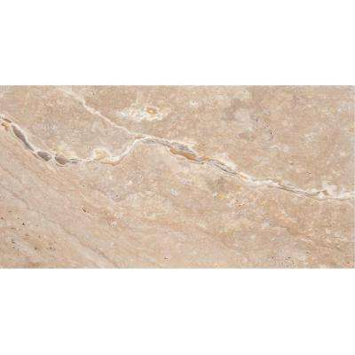 Trav Chiseled Scabos 8 in. x 16 in. Travertine Floor and Wall Tile