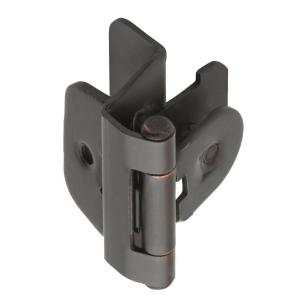 Amerock 1/4 In. Oil Rubbed Bronze Double Demountable Inset Hinge BP8701ORB    The Home Depot