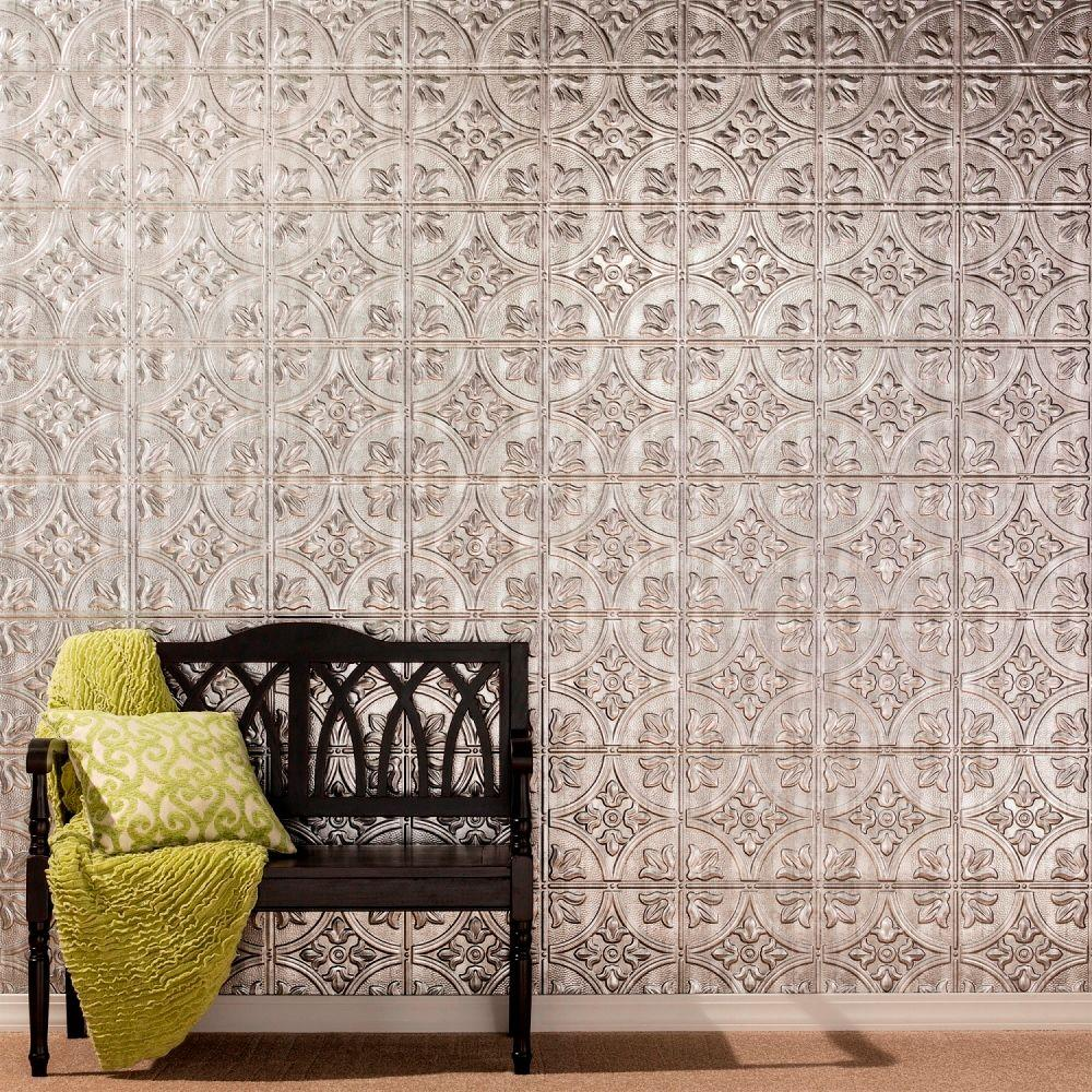 Traditional 2 Decorative Wall Panel In Argent Bronze