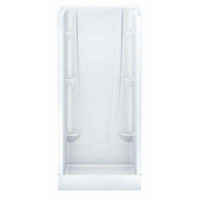 A2 36 in. x 36 in. x 76 in. Shower Stall in White