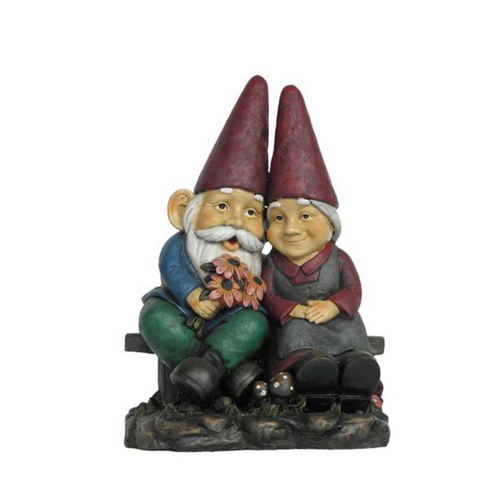 Hi Line Gift Gnome Old Couple On Bench