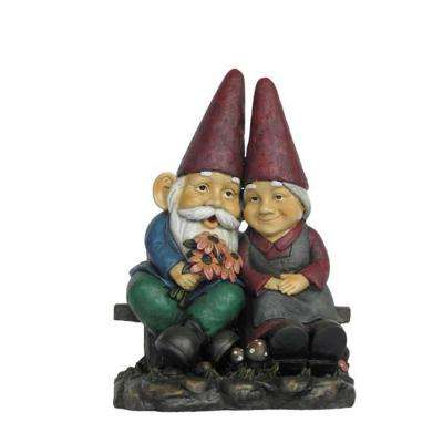 Gnome Old Couple On Bench