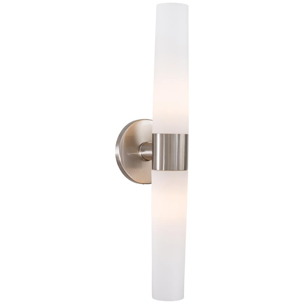 George Kovacs Saber 2 Light Brushed Nickel Wall Sconce P5042 084 The Home Depot