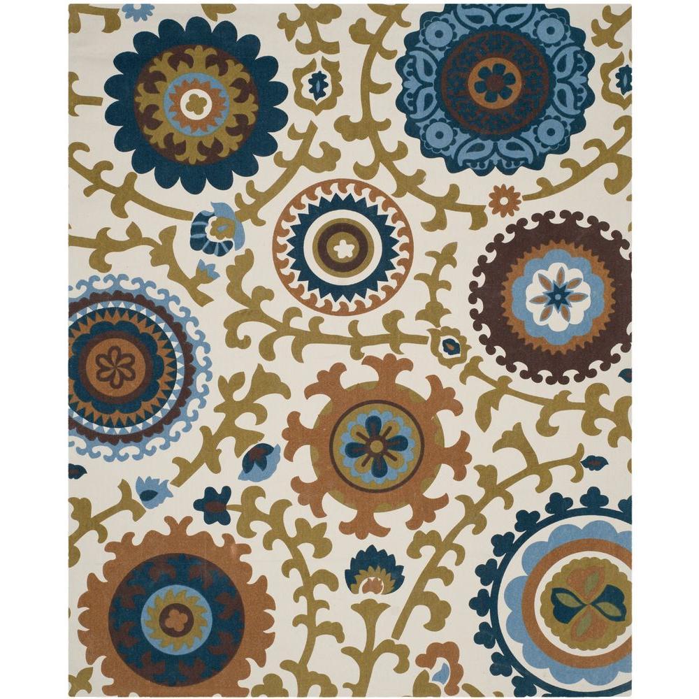 Safavieh Cedar Brook Ivory/Blue 7 ft. 3 in. x 9 ft. 3 in. Area Rug