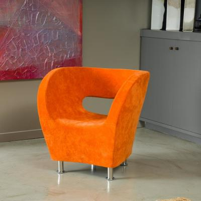 Modern Orange Accent Chair